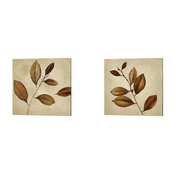 Lanie Loreth 'Antiqued Leaves' Canvas Art (Set of 2)
