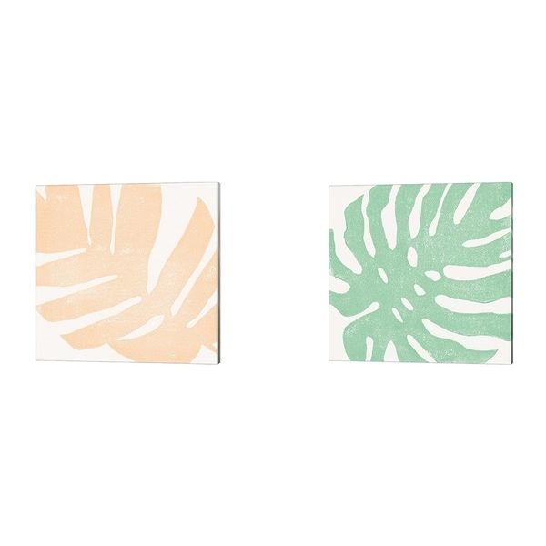 Moira Hershey 'Tropical Treasures Pastel B' Canvas Art (Set of 2)