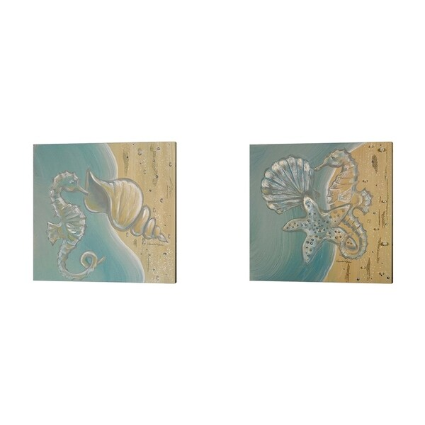 Hakimipour - Ritter 'Pearl Beach' Canvas Art (Set of 2)