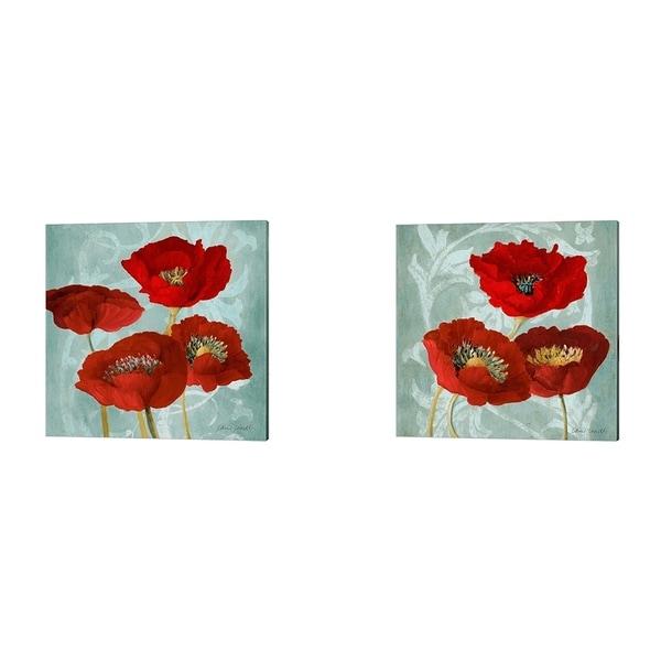 Lanie Loreth 'Rouge Pavots' Canvas Art (Set of 2)
