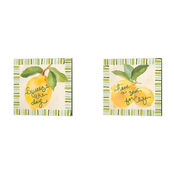 Lanie Loreth 'Squeeze the Day & Have a Zest for Life' Canvas Art (Set of 2)