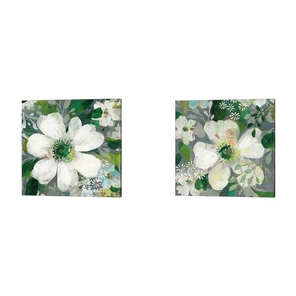 Danhui Nai 'Anemone and Friends' Canvas Art (Set of 2)