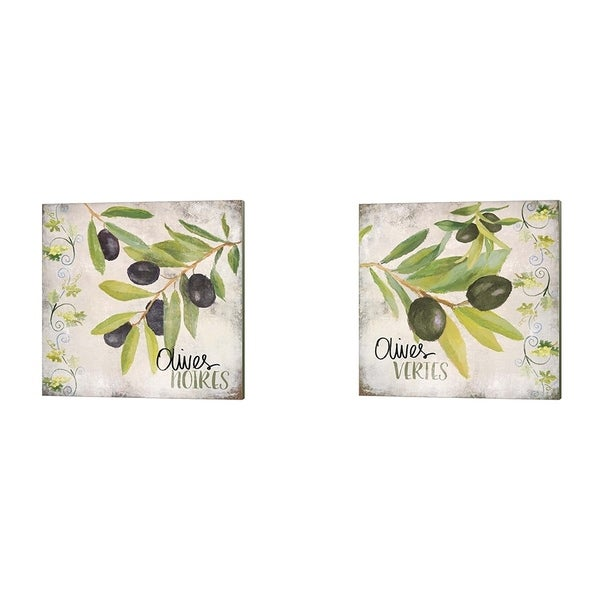Lanie Loreth 'Olives Noires & Vertes' Canvas Art (Set of 2)