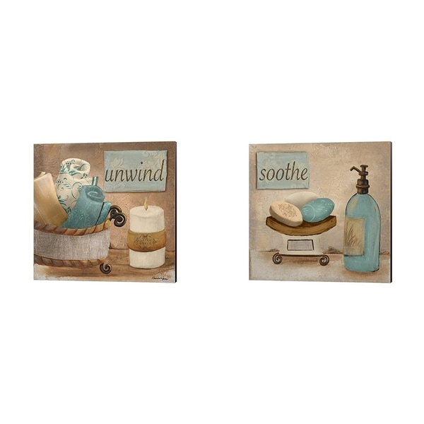 Hakimipour - Ritter 'Unwind & Soothe' Canvas Art (Set of 2)