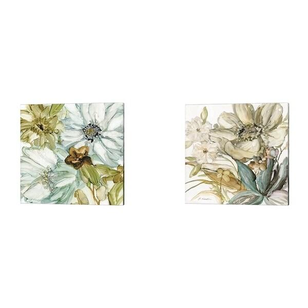 JG Studios 'Seaglass Garden' Canvas Art (Set of 2)