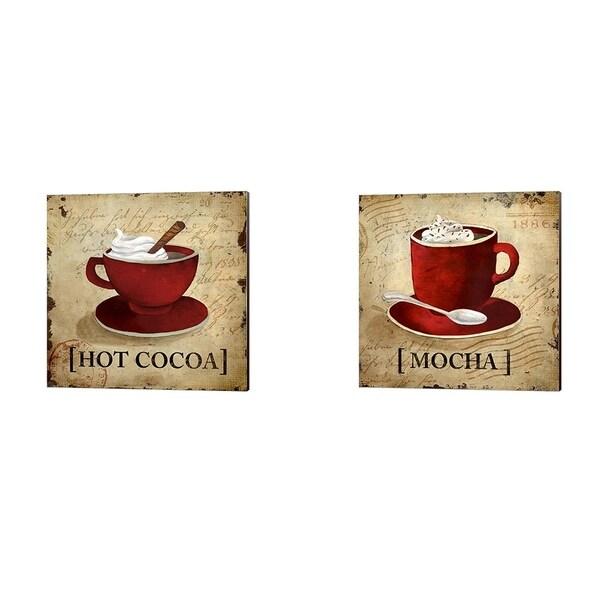 Elizabeth Medley 'Hot Cocoa' Canvas Art (Set of 2)