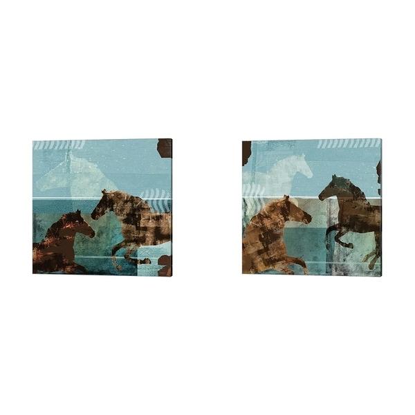 Dan Meneely 'Around the Stable' Canvas Art (Set of 2)