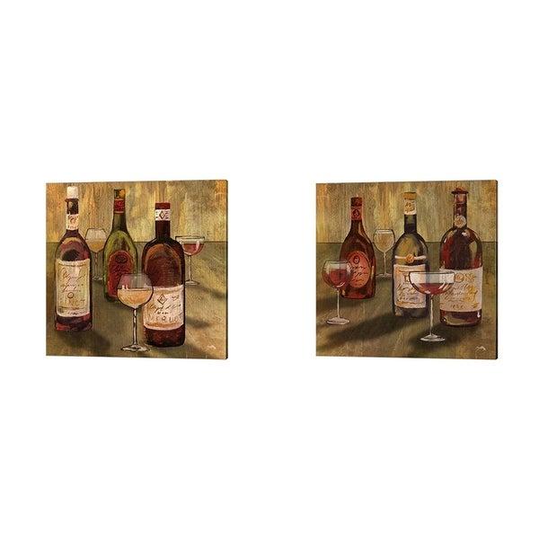 Elizabeth Medley 'Bottle of Wine' Canvas Art (Set of 2)