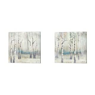 Michael Marcon 'Watercolor December Birch' Canvas Art (Set of 2)