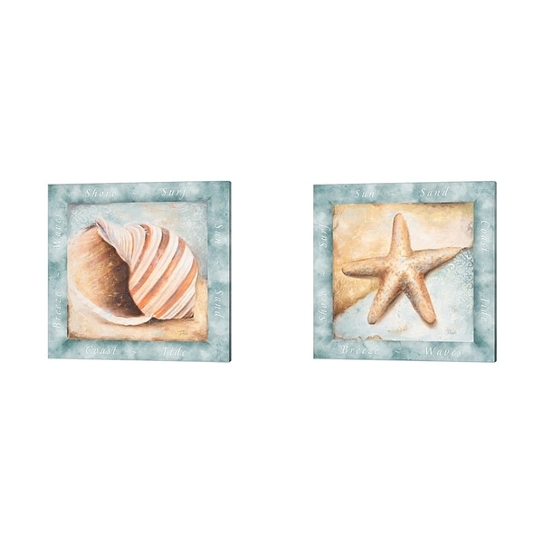 Patricia Pinto 'Sun, Sand and Surf' Canvas Art (Set of 2)