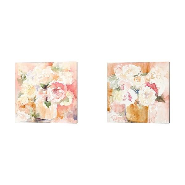 Lanie Loreth 'Cascading Blooms' Canvas Art (Set of 2)