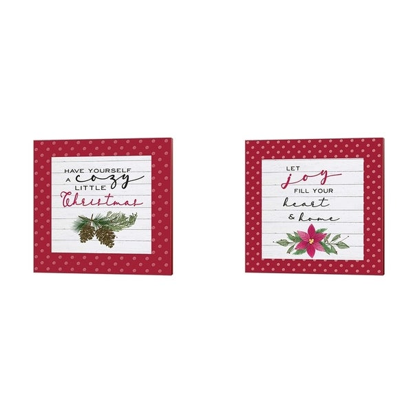 Hartworks 'Cozy Christmas Dots' Canvas Art (Set of 2)