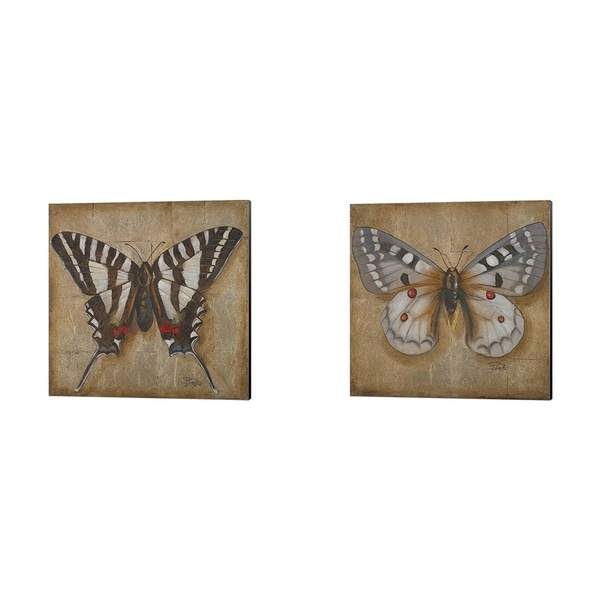 Patricia Pinto 'Butterfly' Canvas Art (Set of 2)