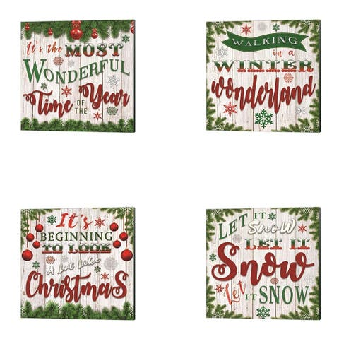Bluebird Barn 'Christmas Lyrics' Canvas Art (Set of 4)