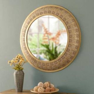 """Alma Round Luxe Wall Mirror - 30"""" Dia."""