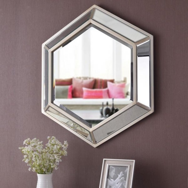 "Cissena Geometric Style Wall Mirror - 34""x 34"""