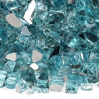 """American Fire Glass 1/4"""" and 1/2"""" Premium Fire Glass, 10 lbs."""