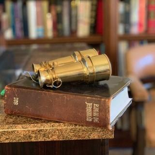 Naval Solid Brass Binocular Nautical Decor - N/A