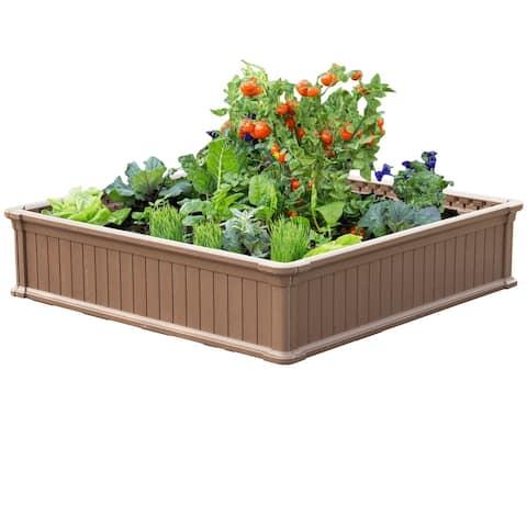 Modern Home Raised Garden Bed Kit - Stackable Modular Flower/Planter Kit