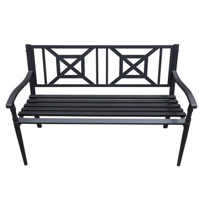 Black Outdoor Benches Online At