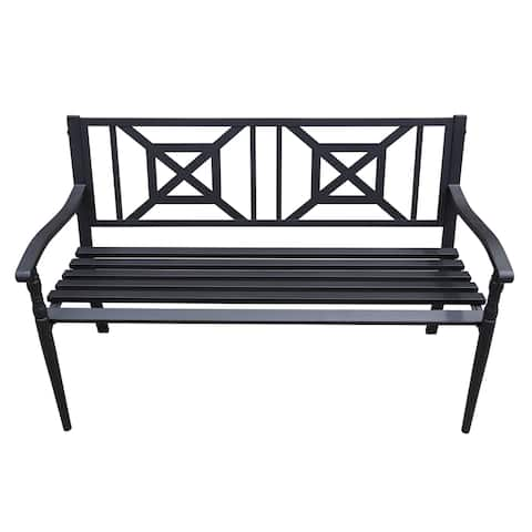 Maypex 4 FT Steel Garden Bench