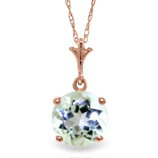 Link to 14K Rose Gold Natural Aquamarine Necklace Similar Items in Necklaces