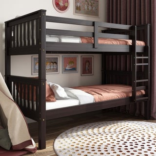 Taylor & Olive Elderberry Twin-over-twin Bunk Bed