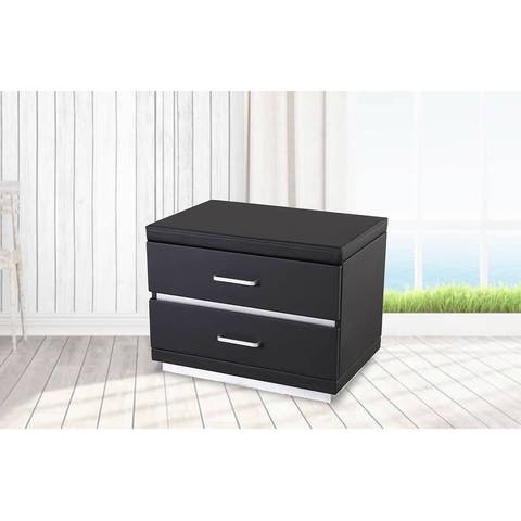 Greatime NL2005 Modern Two Drawers Nightstand