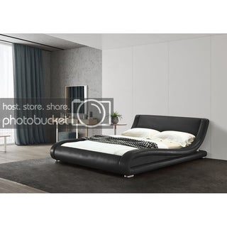 Greatime B1070 Contemporary Upholstered Platform Bed