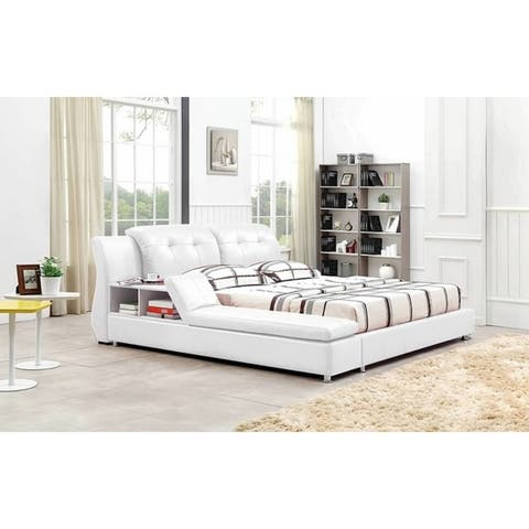 Greatime B2003 Modern Platform Bed with Siderail Storage