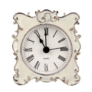 Ornate Edge Metal Mini Tabletop Clock
