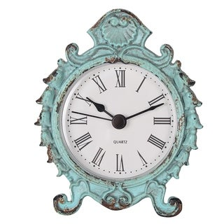 Antique Pewter Tabletop Clock