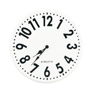 Round Embossed Metal Wall Clock
