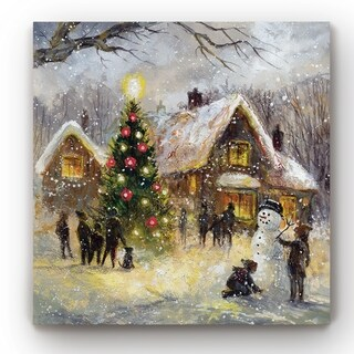 Tree Lighting  -Gallery Wrapped Canvas