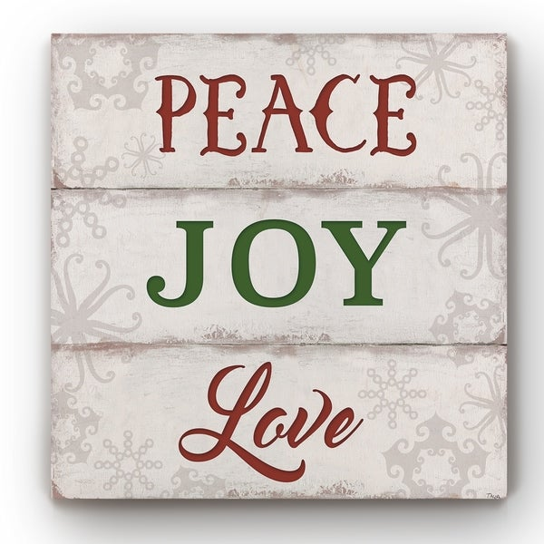 Peace, Joy, Love -Gallery Wrapped Canvas