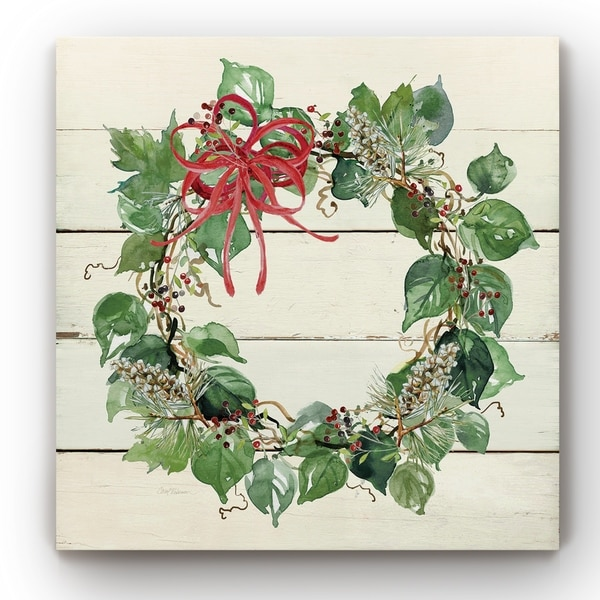 Holiday Wreath -Gallery Wrapped Canvas