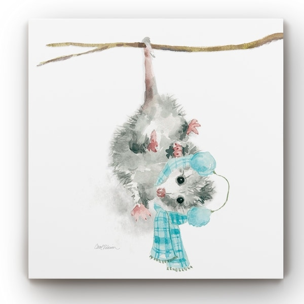 Christmas Critter Possum -Gallery Wrapped Canvas