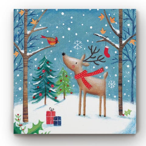 Merry Christmas Cardinal -Gallery Wrapped Canvas
