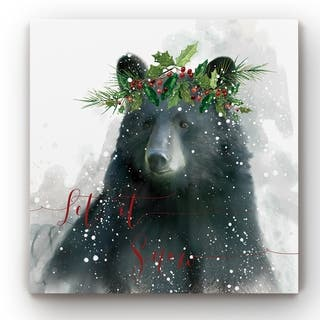 Let It Snow Bear -Gallery Wrapped Canvas
