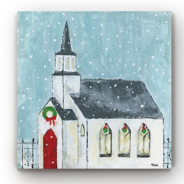 Christmas Night -Gallery Wrapped Canvas