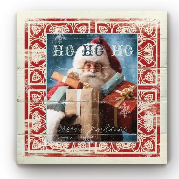 Shiplap Santa -Gallery Wrapped Canvas