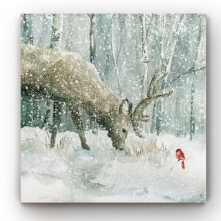 Winter Forest Friends -Gallery Wrapped Canvas