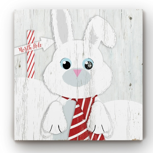 Snow Bunny -Gallery Wrapped Canvas