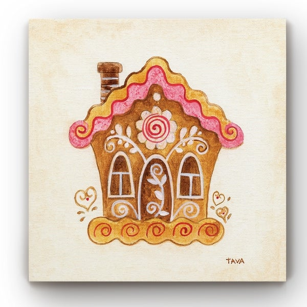 Gingerbread House II -Gallery Wrapped Canvas