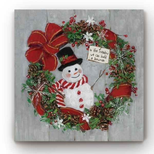 Mr. Snowman -Gallery Wrapped Canvas