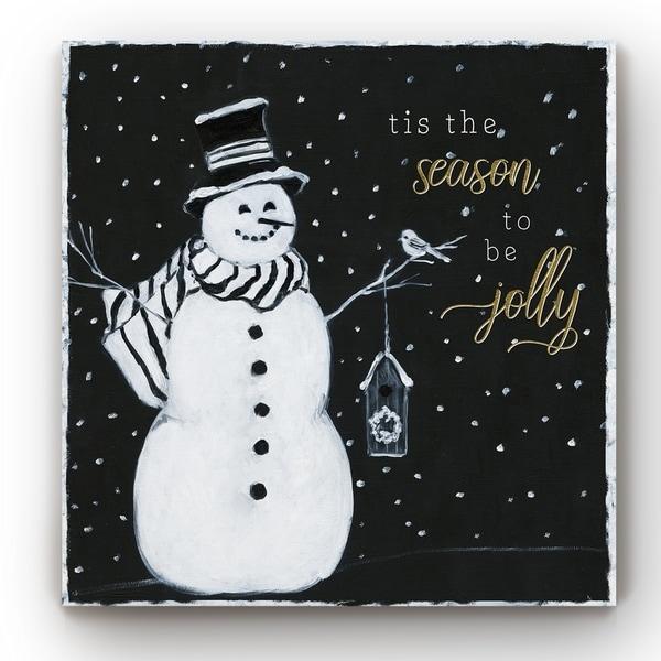 Tis the Season Snowman -Gallery Wrapped Canvas