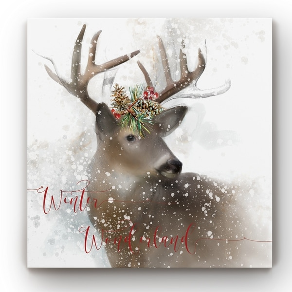Winter Wonderland Deer -Gallery Wrapped Canvas
