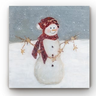 Starry Snowman -Gallery Wrapped Canvas