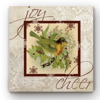 Christmas Bird  -Gallery Wrapped Canvas