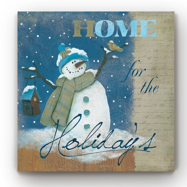 Snowman Birdhouse -Gallery Wrapped Canvas